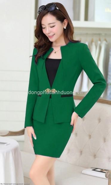 Vest Nữ công sở màu green